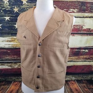 WYOMING TRADERS MENS OVERSIZED BRONCO CANVAS VEST